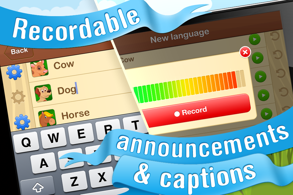 Animals for Tots. Animated Flashcards with Animal Sounds - Educational App