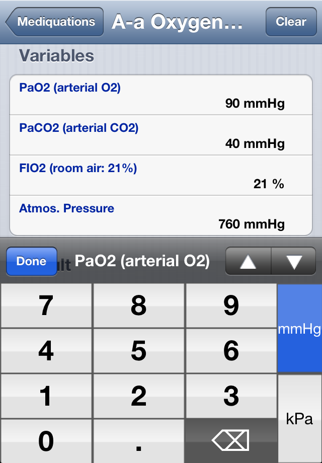 Mediquations Medical Calculator Screenshot 3